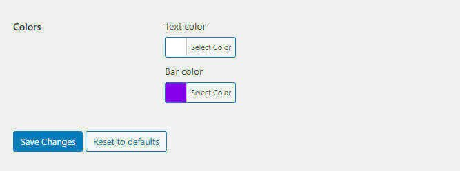 choosing text bar colours